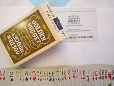 Casino Playing Cards - Rare Golden Nugget Hotel Vintage Used Brown Deck 2Nd Gen