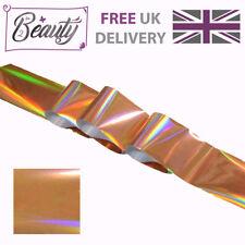 Nail Art Transfer Foil Foils Wrap Glitter Decal Holographic Rose Gold Laser