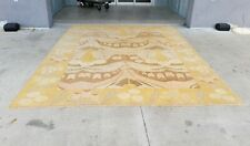 Large Decorator Hand Knotted Turkish Secessionist Style Rug