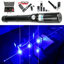 High Power Blue Laser 450nm Pointer Pen Adjustable Visible Beam Burn Match Wood