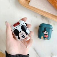 Cute Mickey Mouse Earphone TPU Cover for Apple Airpods Charging Case Holder Bag