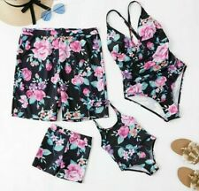 Family Matching Swimwear Floral One-piece Swimsuit Mother Daughter Summer Outfit