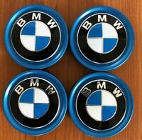 4 BMW Embleme Nabendeckel Felgendeckel 2er F45 F46 X1 X3 i3 i8 ORIGINAL 56mm NEU
