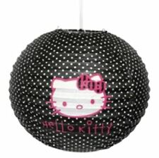 Hello Kitty Black Polkadot Bedroom Ceiling Paper Lantern Light Lamp Shade 272400