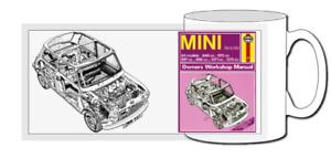 classic mini mug, gift, coffee, pop icon, car, haynes, cooper, austin, metro