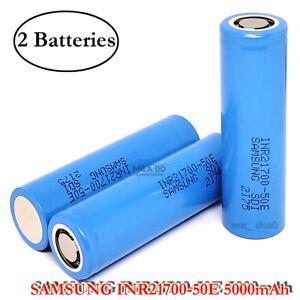 2x Samsung INR21700-50E 9.8A 5000mAh Rechargeable High Drain 3.7V 21700 Battery