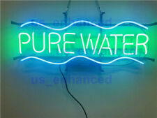 New Pure Water Real Glass Beer Bar Decor Neon Light Sign 24""