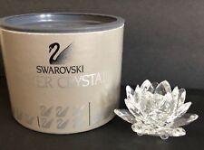 SWAROVSKI Silver Crystal SeeRose Waterlily Large Candleholder with Box