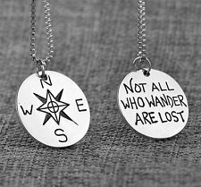 Wanderlust Jewelry Travelers Necklace Wanderlust Not All Who Wander Are Lost