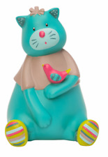 Moulin Roty Les Pachats Cat with Bird Ceramic Money Box from Wyestyles