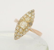 ♦♦ Ring in 14 kt 585er Gelb Gold mit Altschliff Diamanten Brillanten Brillant ♦♦