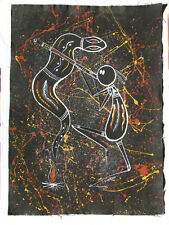 RARE Aboriginal Art Oil on Canvas By Peter Mulcahy - Didgendoo - Signed