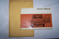 1968 VW Fastback Owners Manual Parts Service 2 Door Squareback Type 3