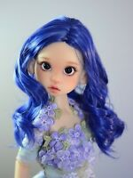 "ZaZou Luxury Collection ""Blue Twilight"" Blue Wig for 18"" MSD BJD Kaye Wiggs"