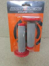 MOOSE GRAY/RED MX GRIPS HONDA CRF250R CR125R CR250R CRF450R CRF450 CR85 CR500 CR