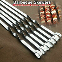 620 mm.Quality Azerbaijan 10 BBQ Skewers Stainless Steel Mangal.Made in Germany.