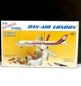 3D Slot Dan Air London Airbus A300 wood model plane desk tidy avion flugzeug