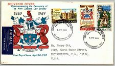 GP GOLDPATH: NEW ZEALAND SOUVENIR COVER 1969 AIR MAIL FIRST DAY COVER _CV787_P04
