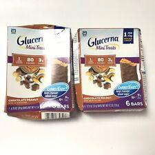 2PK Glucerna Chocolate Caramel Bars Mini Treats 6 ct  Expiration 09/2020