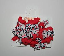 New Gymboree Dot Curly Ribbons 2 Pack Barrettes  NWT One Size Ciao Puppy Line