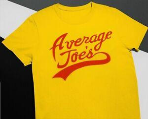 Average Joes T Shirt Yellow Dodgeball Tee Team Costume Fancy Dress Fun Exercise