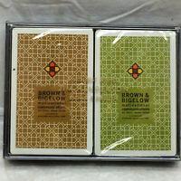 2 Vintage Redislip Playing Cards Decks Not Opened Plastic Case Advertising