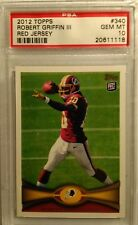 ROBERT GRIFFIN III 2012 TOPPS #340 RED JERSEY PSA 10 RC Redskins RAVENS HOT RC