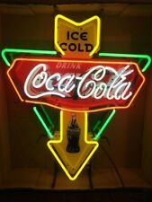"Ice Cold Drink Coca Cola Open Neon Sign 19"" HD Vivid Printing Technology"