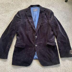 Tommy Hilfiger Tailored Jacket Corduroy Navy Blue UK Size 42 EU Size 52