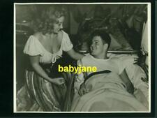 JOAN BLONDELL VINTAGE 8X10 PHOTO CANDID VISITING INJURED SOLDIER DURING WWII