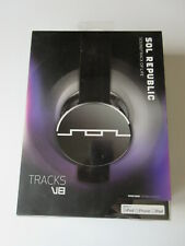 Sol Republic Headphones Tracks V8 Black with cable in box