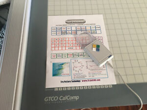 GTCO Calcomp Roll UP 36 x 48 Inch Active Area Digitizer Configured  STYLECAD