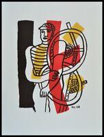 Fernand Leger Le Cycliste Poster Kunstdruck Bild im Alu Rahmen schwarz 76x56cm
