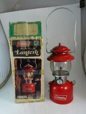 Vintage 1977 Coleman Lantern 200A Red Enamel Single Mantle Camping Retro Old