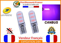 2 x ampoule LED 5630 T10 W5W ROSE veilleuse plaque VOITURE canbus anti erreur