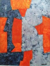 "POLIAKOFF mounted repro print, 16 x 12"", XXe Siècle 1962 retro abstract X18027"