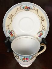 Silver China Made In Occupied Japan Tea Cup And Saucer