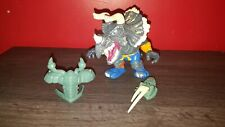 "1996 Extreme Dinosaurs Spike Triceratops 6"" Figure With Armor & Attack Spike"