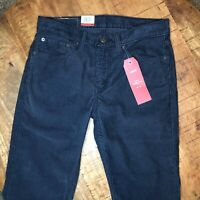 Levi's 511 Corduroy Pants Slim Stretch Blue 045111830 Mens Size 31x30