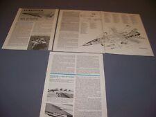 VINTAGE..MIKOYAN MIG-31 FOXHOUND..HISTORY/CUTAWAY/SPECS/3-VIEWS..RARE! (831H)