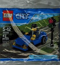 Lego 30349 city Blue Car with 1 minifigures Lego Land Free Kids Ticket included