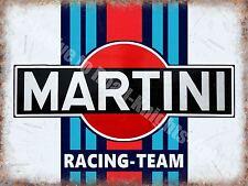 Martini Racing Team, 141 Vintage Garage Advertising Drink, Medium Metal Tin Sign