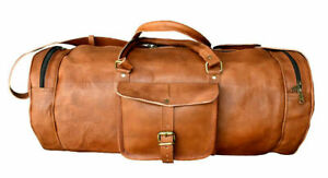 Leather Travel Bag Duffle Gym Mens Luggage Overnight Weekends Bag Only For Men's