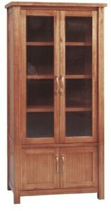 TOREN COUNTRY STYLE NATURAL MOUNTAIN ASH TIMBER DISPLAY CABINET DISPLAY SHELVES