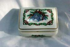 Heritage House 1985 Christmas Melodies Silver Bells Musical Trinket Box