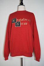 Registered Nurse Sweatshirt Jerzees Red Women's Size XL