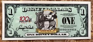 Disney Dollar Steamboat Willie in Mint Condition A Series Uncirculated
