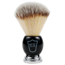 Parker Black & Chrome Handle Syntheic Shaving Brush and Stand