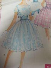 Vtg 50's Simplicity 3016 DRESS w/ JACKET & CUMMERBUND Sewing Pattern Teen Women