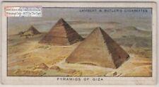 Cairo Egypt Pyramids Of Giza Ghiza 1930s Trade Ad Card